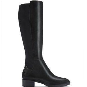 Tory Burch Caitlin black stretch boots & dust bag